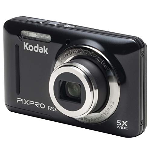 KODAK Pixpro - FZ53 - Kompakte Digitalkamera mit 16 Megapixeln - Schwarz
