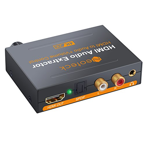 Neoteck 4K x 2K HDMI Audio Konverter Splitter Lautstärkeregler HDMI zu Optisch SPDIF Toslink Konverter Verteiler Digital zu Stereo R/L Audio Wandler für Apple TV Blu-ray Xbox One Sky HD Box PS3 PS4