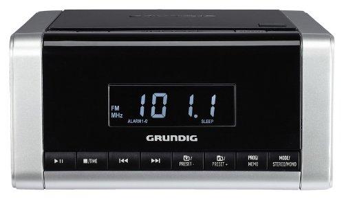 Grundig CCD 5690 SPCD Uhrenradio (PLL, CD-Player, etc.) silber/schwarz