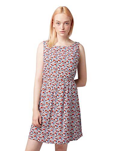 TOM TAILOR DENIM Damen Kleider & Jumpsuits Gemustertes Kleid Flower Print Off White,M