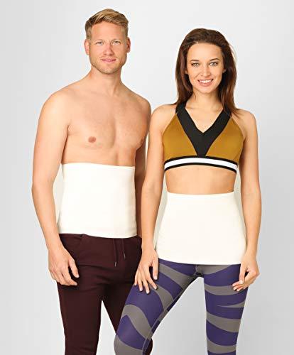 BeFit24 Nierenwärmer Medizinische Qualität aus Angora & Merino Wolle für Damen und Herren - Rückenwärmer - Wärmegürtel Rücken - Nierengurt - Nierenschutz [ Size 3 ]