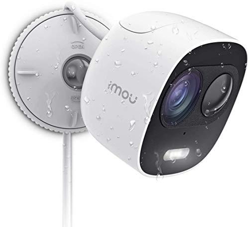 Imou Überwachungskamera Aussen WLAN Kamera Outdoor 1080P Wasserdicht IP65, PIR Bewegungserkennung mit 110db Alarm & Blitz, Zwei-Wege-Audio Bewegungsmelder aussen, Nachtsicht 10m Kompatibel mit Alexa