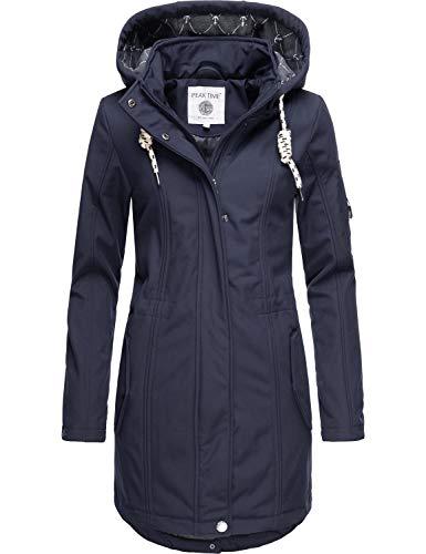Peak Time Damen Softshell Mantel L60013 Blau020 Gr. XL