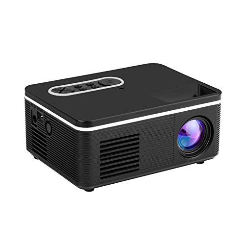 Beamer Projektor Elektrisch LED-Projektor Tragbarer Mini-Home-Entertainment-Projektor unterstützt 1080p HD-Projektion Tragbarer HD 1080P 60-Zoll-Heimkino-Videoprojektor mit eingebautem Lautsprecher