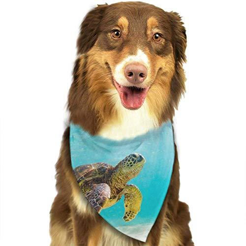 Gxdchfj Sea Turtle Ocean in Hawaii Stylish Dog Bandanas Pet Dog Cat Neckerchief Dog Scarf