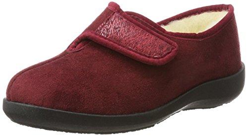 Fargeot TOTIE Damen Pantoffeln, Bordo, 41 EU
