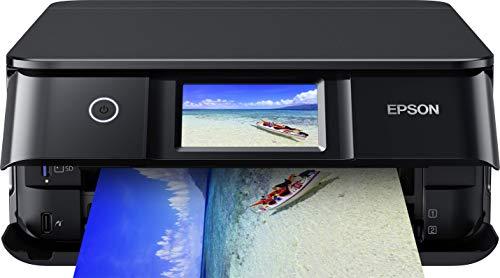 Epson Expression Photo XP-8600 3-in-1 Tintenstrahl-Multifunktionsgerät Drucker (Scanner, Kopierer, WLAN, Duplex, 10,9 cm Touchscreen, Einzelpatronen, 6 Farben, DIN A4) schwarz