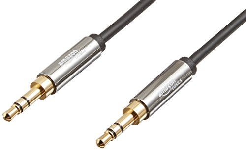 Amazon Basics Aux-Kabel, Stereo-Audiokabel, 3,5mm-Klinkenstecker auf 3,5mm-Klinkenstecker, 1,2m
