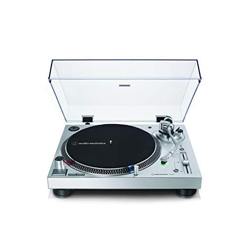 Audio-Technica AT-LP120X direktangetriebener Plattenspieler (Analog und USB) silber