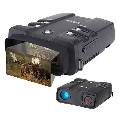 Digitales Nachtsicht Fernglas,Speichern Sie Fotos & Videos mit Audio, 3.6-10.8 x 31 mm Infrarot Fernglas für Jagd und Überwachung, Großbild- und 1000-Fuß-Sichtbereich mit 64G Speicherkarte