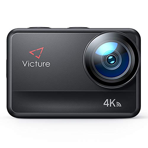 Victure AC940 Action Kamera 5M Bare Machine Wasserdicht 4K 20MP Sportkamera mit Touchscreen Vlog Kamera EIS Fernbedienung 131 Fuß Unterwasser Camcorder mit 2x1350mAh Akkus und Zubehör