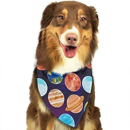 Gxdchfj Watercolor Space Pattern Fashion Dog Bandanas Bibs Scarfs Pet Scarfs Cats Dog Scarf