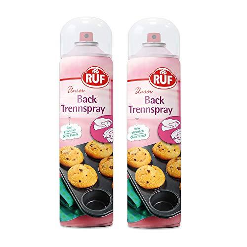 RUF Trennspray zum Backen, Braten und Grillen • rein pflanzlich ohne Palmöl, 2er Pack (2 x 200 ml)