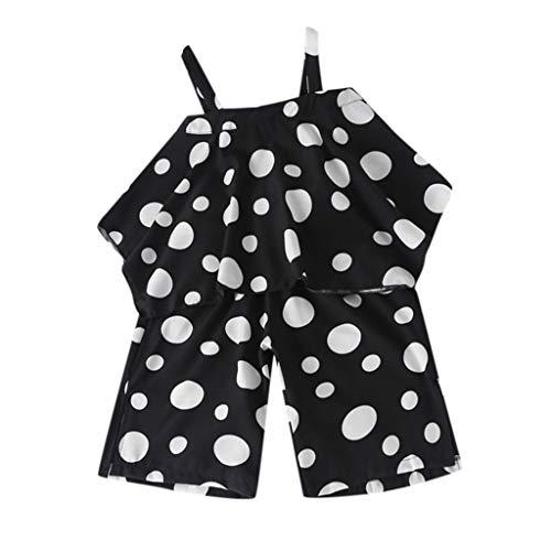 Allence Kleinkind Kinder Baby Mädchen Bodysuit Polka Dot Hosenträger Weste Lose Hosen Outfits Set Jumpsuit