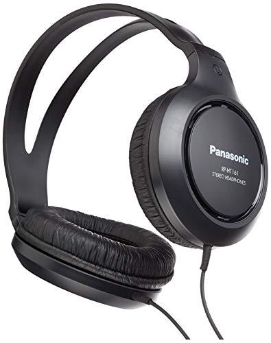 Panasonic RP-HT161E-K Hifi-Kopfhörer (2 m langes Kabel, 10-27.000 Hz, 30 mm Wandler) schwarz