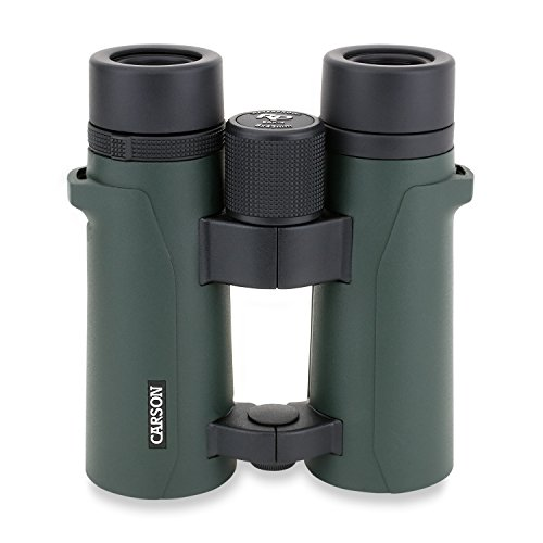 Carson RD-842 Full Size Fernglas, Doppelstegdesign, 8x42mm, wasserdicht, robust, beschlagfrei, ideal für Birding, Jagd, Outdoor, Sport, Freizeit