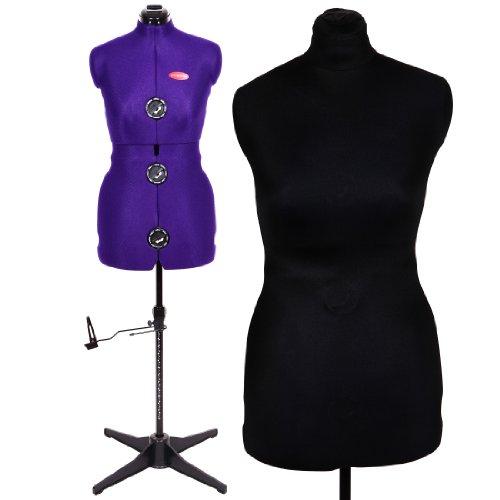 Damen Schneiderpuppe Verstellbare Schneiderpuppe Prymadonna Größe S inklusive Schutzbezug in schwarz