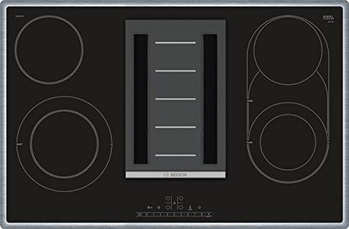 Bosch PKM845F11E Serie 6 Kochfeld mit Dunstabzug (Strahlung) / 80 cm / Schwarz / Umlaufender Rahmen / DirectSelect / 17 Leistungsstufen / PowerBoost / ReStart / CombiZone / PowerBoost/Cerankochfeld