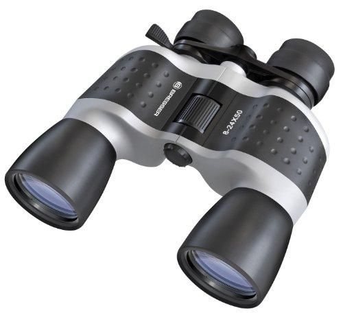 Bresser Fernglas Topas 8-24x50 Zoomfernglas in Porro Bauweise mit hohem Vergrößerungsbereich, Mitteltrieb, vergüteter Optik und Stativanschlussgewinde inklusive Transporttasche und Trageriemen