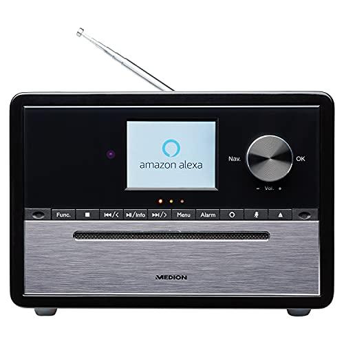 MEDION S64007 Kompaktanlage mit Amazon Alexa (DAB+, CD-Player, MP3, Spotify Connect, Amazon Music, Bluetooth, WLAN, PLL UKW Radio, 2,8 Zoll Farbdisplay)