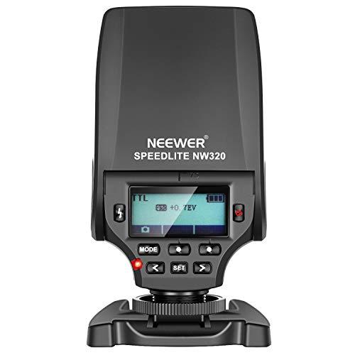 Neewer NW320 Mini TTL Speedlite Blitz Automatikblitz Kompatibel mit Sony MI Blitzschuh DSLR und spiegellosen Kameras A6000 A6300 A6500 A7 A7II A7RII A7RIII A7III NEX6 A7SII A7R A7S