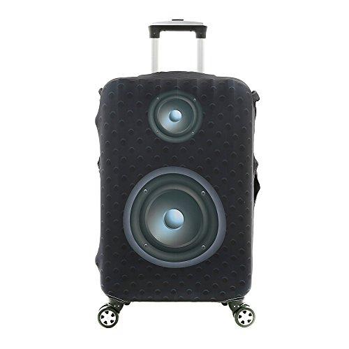 3D Print Schwarz Sound Lautsprecher Design Reise Koffer Schutz Elastische Hülle Abdeckung 22'-24' Anti-Scratch Gepäck Abdeckung Größe M