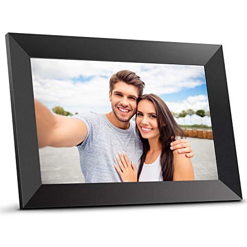 Digitale Bilderrahmen, Bqeel 10.1 Zoll 1G+16G HD Elektronischer Bilderrahme Digitale Fotorahmen hochauflösendes 1280 * 800 IPS-Display Foto/Musik/Video/WiFi