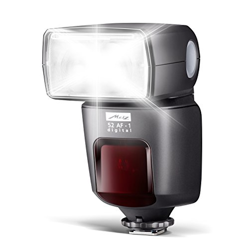 Metz mecablitz 52 AF-1 für Nikon Kameras (DSLR und CSC) | Top Blitzgerät mit i-TTL, Leitzahl 52, HSS (High Speed Sync), Touch-Display etc.