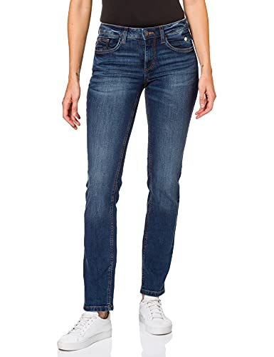 TOM TAILOR Damen 1002534 Jeans, Mid Stone Wash Denim, 28W / 32L