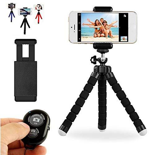 ACECOREE- Handy Stativ,Stativ Smartphone,Generische Handy Kamera Bluetooth Selbstauslöser Mini Schwamm Stativ Halterung Set