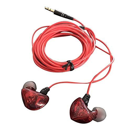 Marxways 3,5 MM MP3-Kontrabass 3 Meter Langer Kopfhörer-Kopfhörer Dreifacher Treiber In-Ear-Kopfhörer Hochauflösende Kopfhörer mit hoher Auflösung für Smartphones/PCs/Tablets