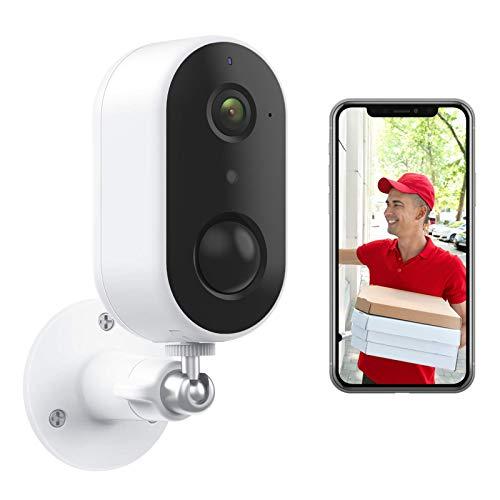 Arenti Kabellose Überwachungskamera Aussen Akku, WLAN IP-Kamera Outdoor mit 1080p, PIR-Bewegungsmelder, Nachtsicht, Wetterfest, 2-Wege-Audio, Kompatibel mit Alexa & Google Assistant