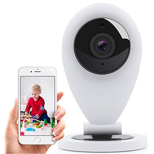 HiKam S6 Überwachungskamera mit App und Support - Datensicherung und Cloud in Deutschland | Personenerkennung | Alexa kompatibel | IP WLAN Kamera innen | Babyphone | Bewegungsmelder | WiFi Kamera