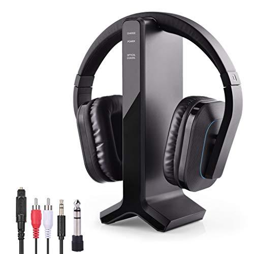 Avantree HT280 Funkkopfhörer Kabellose Kopfhörer zum Fernsehen mit 2,4G RF Transmitter Ladedock, Headset mit hoher Lautstärke, ideal für Senioren, Plug & Play, 30m HOHE REICHWEITE