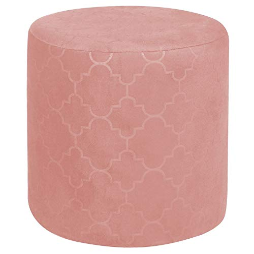 IDIMEX Sitzhocker ORELANS runder Pouf Hocker Polsterhocker mit Samt Stoff Fußbank Fußhocker in rosa pink