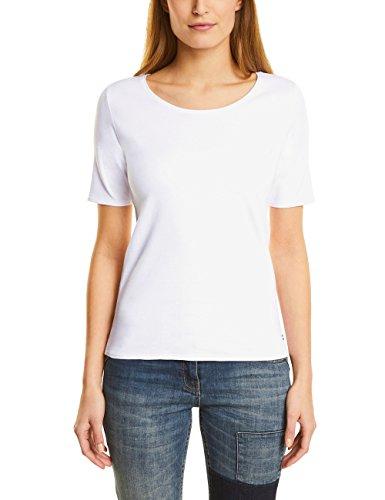 Cecil Damen Lena T-Shirt, Weiß (White 10000), S