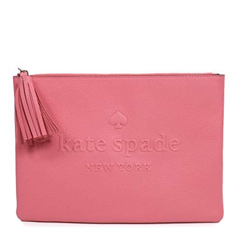 Kate Spade Clutch Larchmont Avenue Logo Koralle Quaste