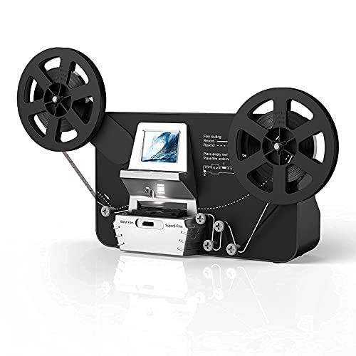 Super 8 Film Scanner, Converts Film in Digitales Video(3', 5', 7' und 9' Super 8/8 mm Film Rollen)MovieMaker/Film Digitizer, Super 8 Digitalisieren, mit 32 GB Speicherkarte und 2,4' LCD