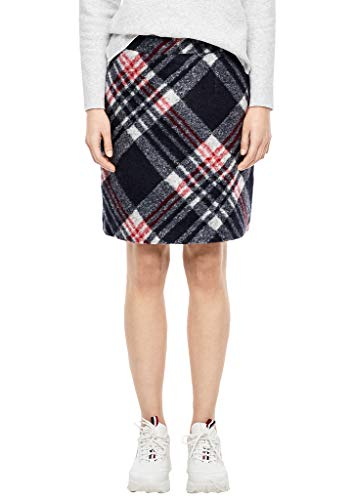 s.Oliver RED LABEL Damen Karierter Wollrock blue check 38