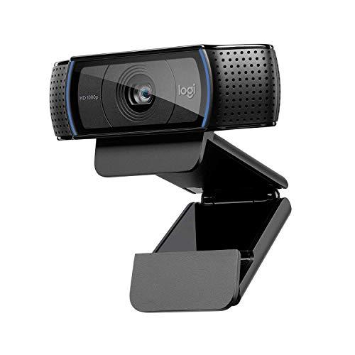 Logitech C920 HD PRO Webcam, Full-HD 1080p, 78° Sichtfeld, Autofokus, Klarer Stereo-Sound, Belichtungskorrektur, USB-Anschluss, Für Skype, FaceTime, Hangouts, etc., PC/Mac/Android/Chromebook - Schwarz