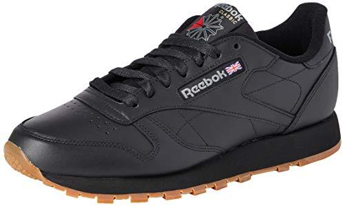 Reebok Herren Classic Leather Low-Top, Schwarz (Black/Gum), 44 EU