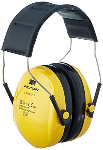3M Peltor Optime I Kapselgehörschützer gelb - Gehörschutz mit verstellbarem Kopfbügel für Lärm bis 98dB - SNR 27 Hörschutz mit geringem Gewicht