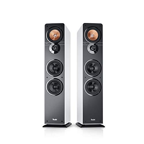 Teufel Ultima 40 Weiß Stereo Lautsprecher Musik Sound Hochtöner Mitteltöner Bass Speaker High End HiFi Tieftöner Schalldruck Soundanlage