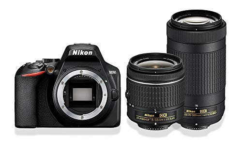 Nikon D3500 Doppelzoom-Kit AF-P DX 18-55 mm 1:3,5-5,6G+ AF-P DX 70-300 mm 1:4,5-6,3 G ED (24,2MP, 3 Zoll Monitor, ISO 100 - 25.600)