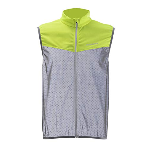ROCKBROS Reflektierende Fahrradweste Warnschutz Sportweste Atmungsaktiv Weste für Outdoor-Sport wie Radfahren Angeln Laufen Herren/Damen XS-2XL