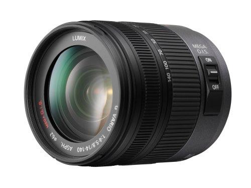 Panasonic H-VS014140E Superzoom-Objektiv Lumix G Vario F4.0-5.8/14-140 mm (62 mm Filtergewinde, bildstabilisiert) schwarz