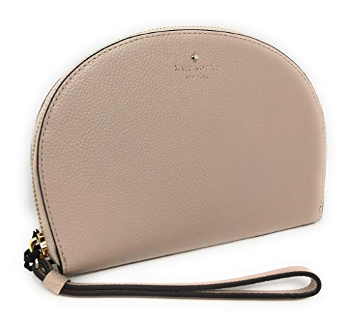 Kate Spade New York Larchmont Ave Pebbled Leather Phone Wristlet Beige