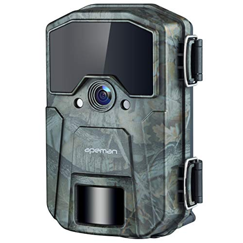 APEMAN Wildkamera 20MP 1080P Infrarot-Nachtsicht Jagdkamera mit 940nm IR LEDs, Zeitraffer, Zeitschaltuhr, IP66 Wasserdicht