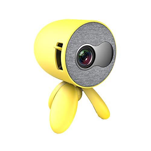 Tragbarer Projektor Mini-Projektor LED-Videoprojektor Kompatibel Mit PS4 / USB/HDMI/SD/AV-Taschenfilmprojektor Unterstützung HDMI Smartphone PC Laptop USB,Gelb