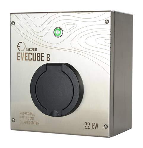 EVECUBE B Wallbox - Ladestation Elektro- & Hybrid Autos 22 kW maximale Ladeleistung (mit Universalsteckdose)